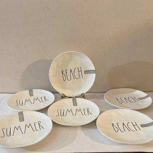 "Rae Dunn 6/ 8"" Salad Plates"